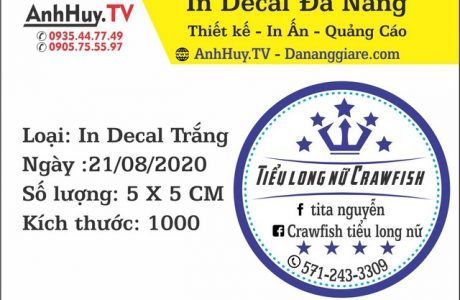 In Logo Tem Nhãn Dán Decal Tiểu Long Nữ Crawfish